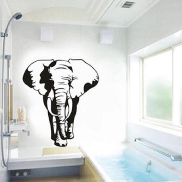 L phant d 39 afrique stickers muraux noir stickers muraux for Decoration murale elephant