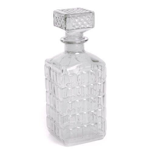 bouteille en verre taill avec bouchon vintage achat vente nettoyage carafe bouteille en. Black Bedroom Furniture Sets. Home Design Ideas