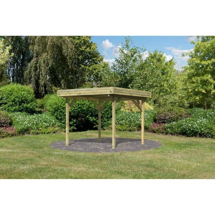 Pavillon de jardin Bois 244x244 cm à toit plat 1 - Achat ...