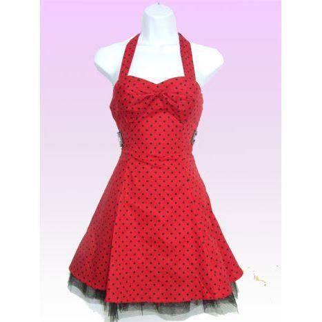 d28d0ec7877 Robe rouge a petit pois blanc – Robes de soirée populaires en France