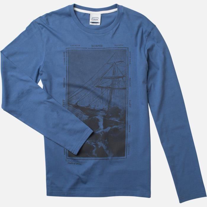 Tee Shirt Homme Hellemo Bleuet Bleuet Achat / Vente T SHIRT Tee
