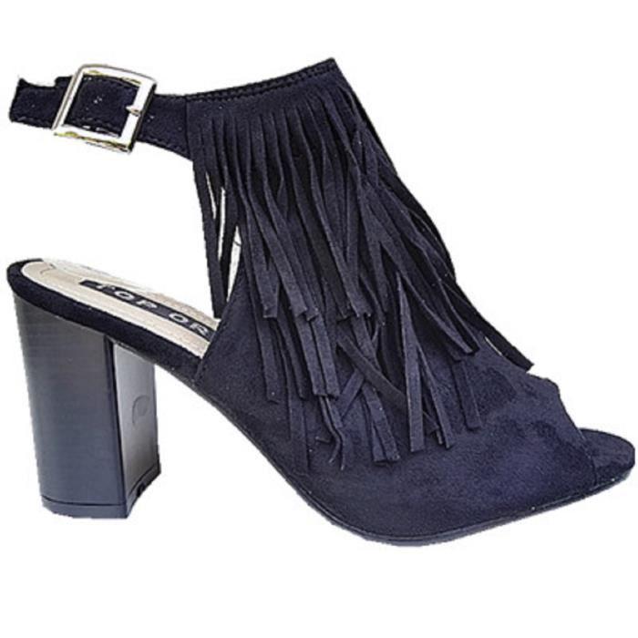 4ec0f25d5bb ... sandales a talon haut bloc femme chaussure bout ou