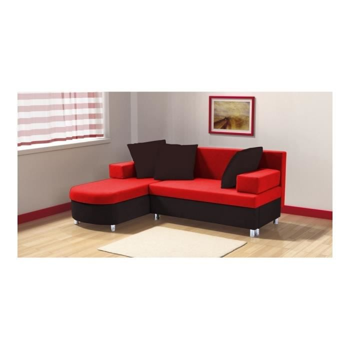 Canap d 39 angle convertible fara i 2 coffres achat for Petit canape rouge
