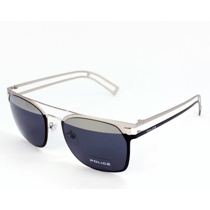 lunettes de soleil police s8958 neymar jr4 w01h noir mat argent noir argent achat vente. Black Bedroom Furniture Sets. Home Design Ideas