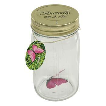 bocal a papillon volant rose interactif achat vente objet d coratif verre cdiscount. Black Bedroom Furniture Sets. Home Design Ideas