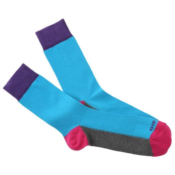 diesel chaussettes homme bleu rose violet gris achat vente chaussettes diesel chaussettes. Black Bedroom Furniture Sets. Home Design Ideas