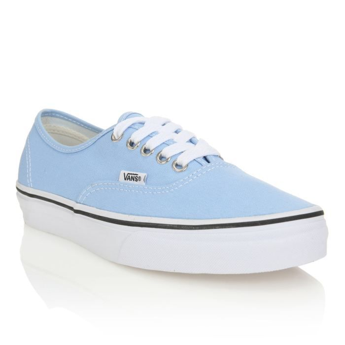 vans baskets authentic femme femme bleu pastel achat vente vans baskets authentic femme. Black Bedroom Furniture Sets. Home Design Ideas