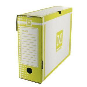 Boîte à archive Boite archive 34x 25 dos 10cm jaune - Paquet de 25