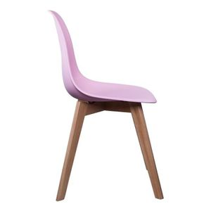CHAISE Chaise scandinave coque polypropylène Rose