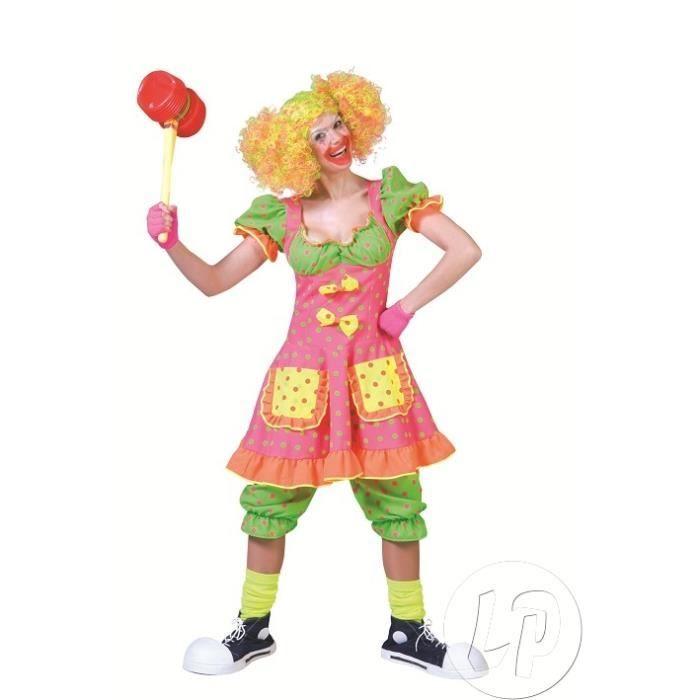 costume femme clown fluo t40/42 Achat / Vente déguisement