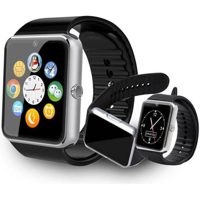 gt08 smartwatch montre connect e t l phone montre. Black Bedroom Furniture Sets. Home Design Ideas