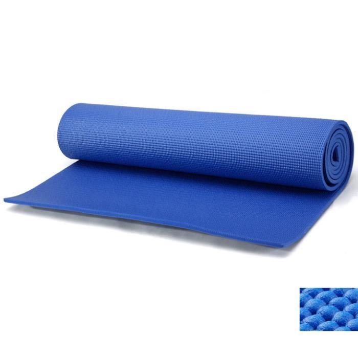 tapis en mousse pour le sport domicile tapis de yoga et fitness bleu prix pas cher. Black Bedroom Furniture Sets. Home Design Ideas