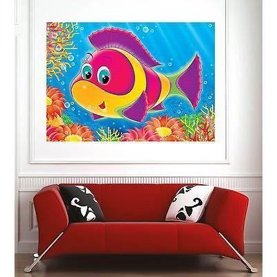 Affiche poster d coration murale enfant poisson r f for Decoration murale enfant