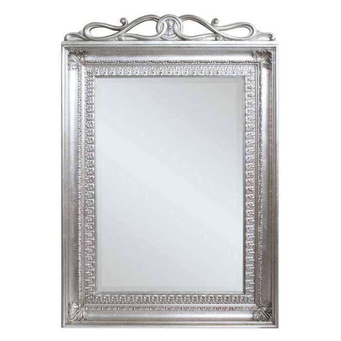Miroir rectangulaire feuille d 39 argent achat vente for Miroir rectangulaire argent