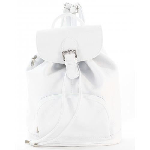 sac dos cuir blanc tu achat vente sac dos 3611780100810 cdiscount. Black Bedroom Furniture Sets. Home Design Ideas