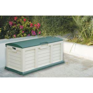 Coffre de jardin en résine 270L + Couvercle - Beige