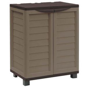 STARPLAST Demi armoire de jardin avec 2 étag?res et 4 pieds - 300L - Moka