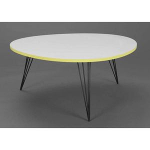Table basse ronde scandinave achat vente table basse for Table basse scandinave jaune