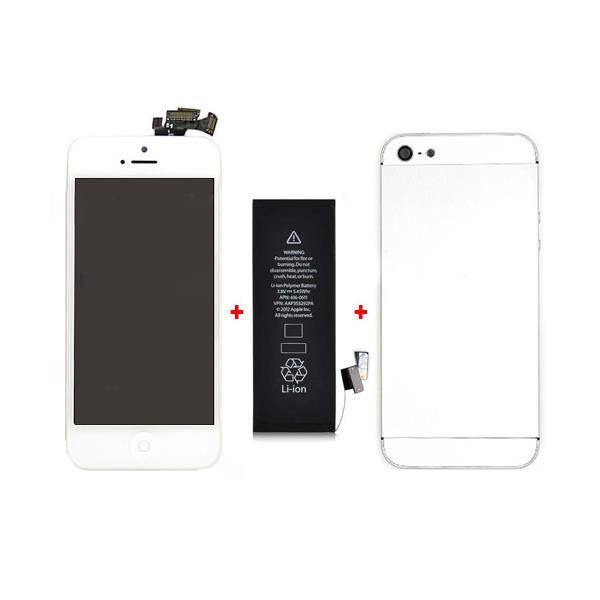 kit de remise neuf blanc pour iphone 5 achat accessoires smartphone pas cher avis et. Black Bedroom Furniture Sets. Home Design Ideas