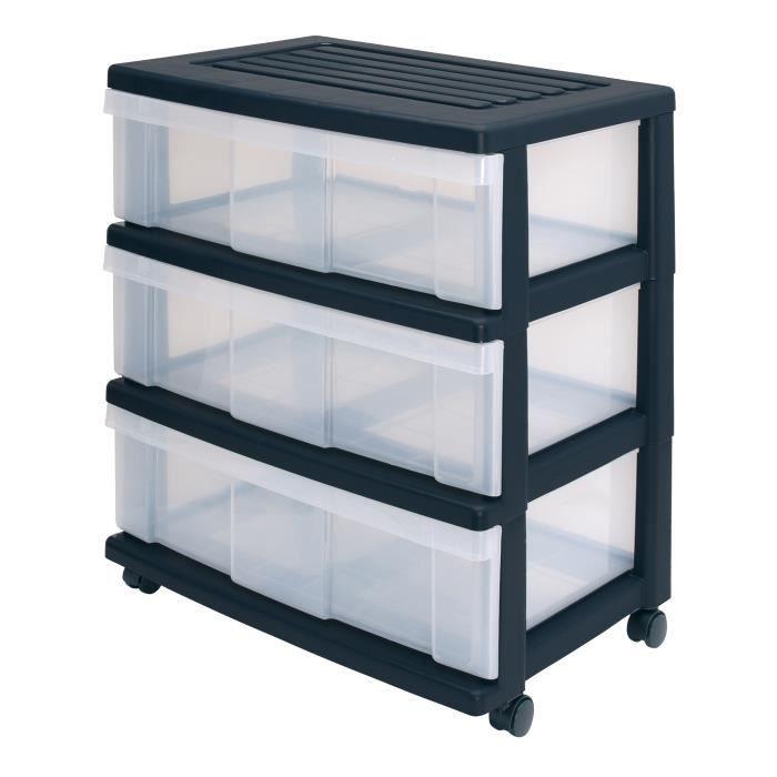 tours de rangement trois tiroirs tour de range achat. Black Bedroom Furniture Sets. Home Design Ideas