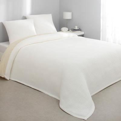 jet de lit piqu de coton 150x150cm achat vente jet e de lit boutis soldes d t cdiscount. Black Bedroom Furniture Sets. Home Design Ideas
