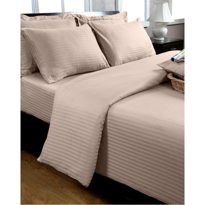 taie d 39 oreiller taupe 100 coton egyptien 330 fils 40 x 80 cm achat vente taie d 39 oreiller. Black Bedroom Furniture Sets. Home Design Ideas