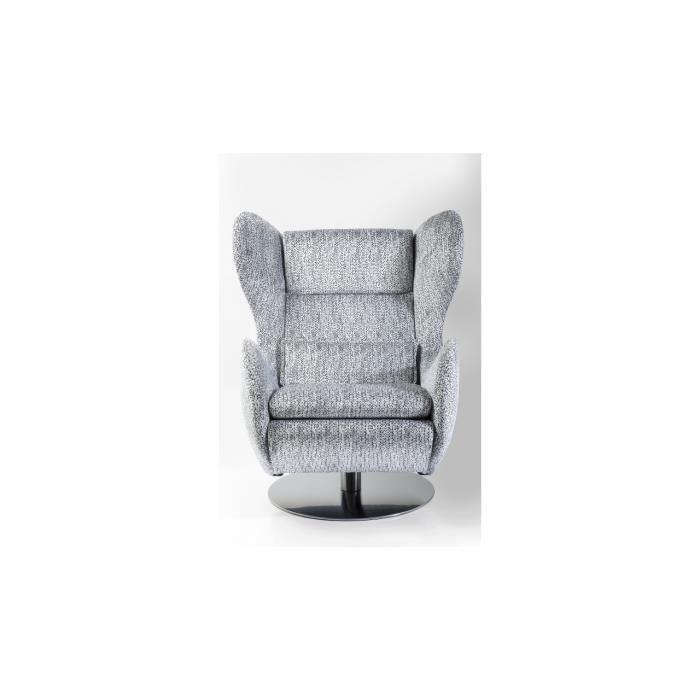 fauteuil pivotant shibuya blanc kare design achat vente fauteuil blanc cdiscount. Black Bedroom Furniture Sets. Home Design Ideas