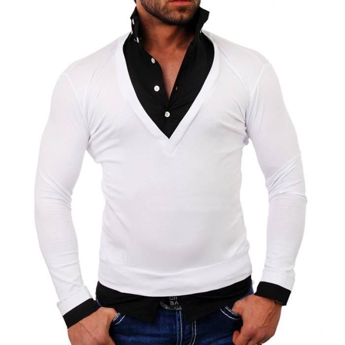 pull chemise 724 blanc pour homme marque tazzi blanc achat vente pull soldes cdiscount. Black Bedroom Furniture Sets. Home Design Ideas