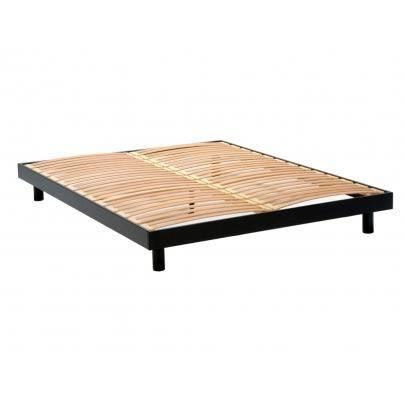 sommier lattes ohio noir 160x200cm achat vente sommier cdiscount. Black Bedroom Furniture Sets. Home Design Ideas