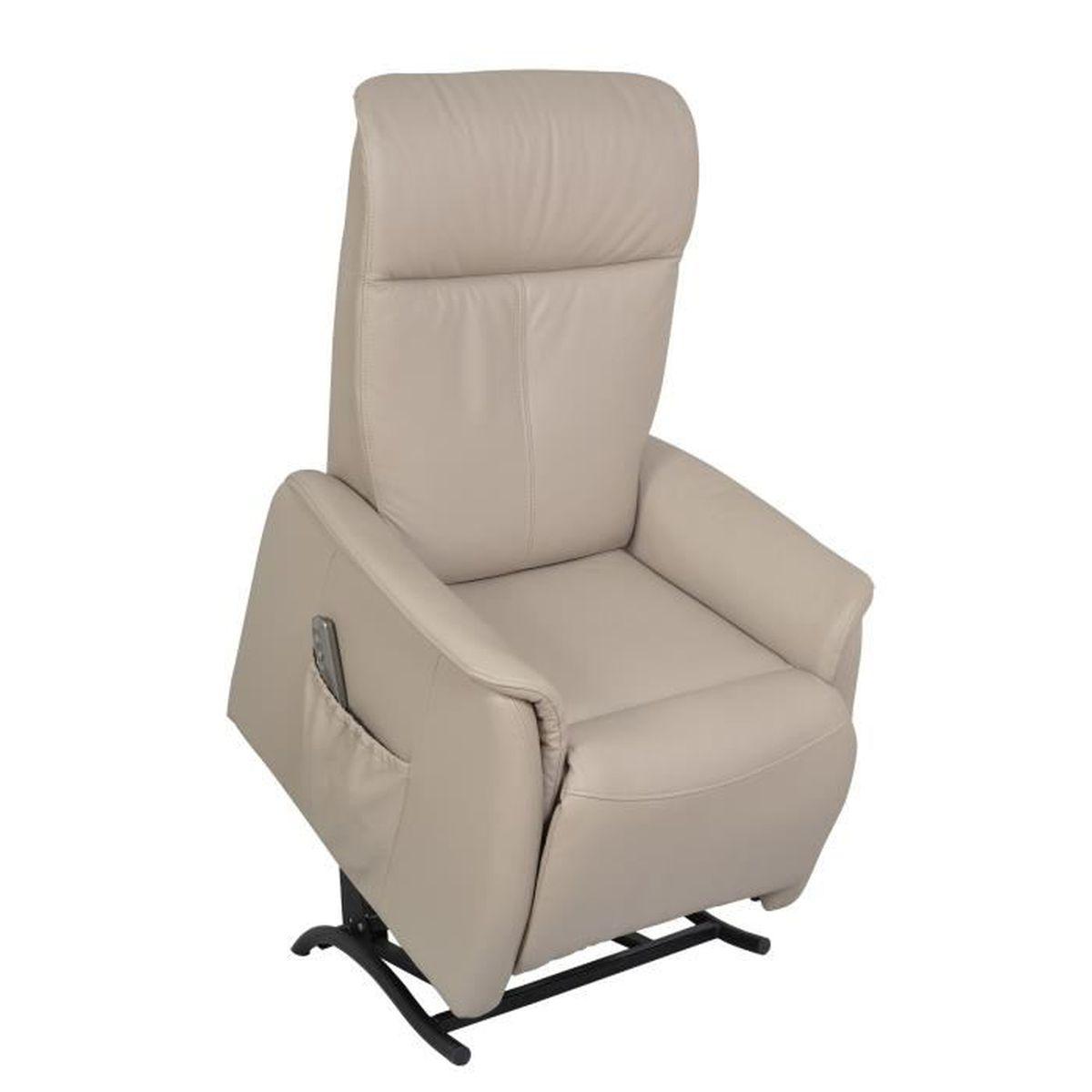 Fauteuil relax en cuir 1 moteur avec fonction releveur garma achat vente - Fauteuille relax cuir ...