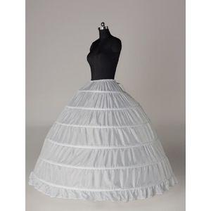robe de marie 1x six anneaux en acier tutu jupon de mariage blan - Jupon Mariage 1 Cerceau Pas Cher