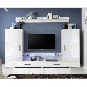meuble tv avec vitrine - achat / vente meuble tv avec vitrine pas ... - Meuble Tv Encastrable Design