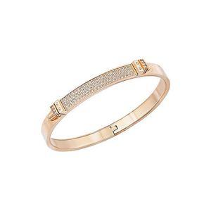BRACELET , GOURMETTE Distinct Narrow Bracelet,jonc M Swarovski , doré r