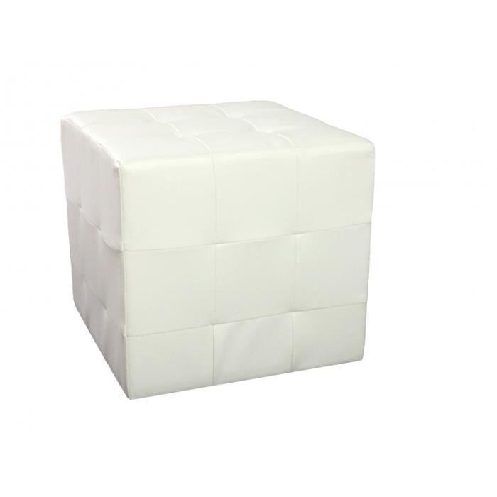 Pouf carre capitonne boro blanc achat vente pouf poire cdiscount - Vente privee carre blanc ...