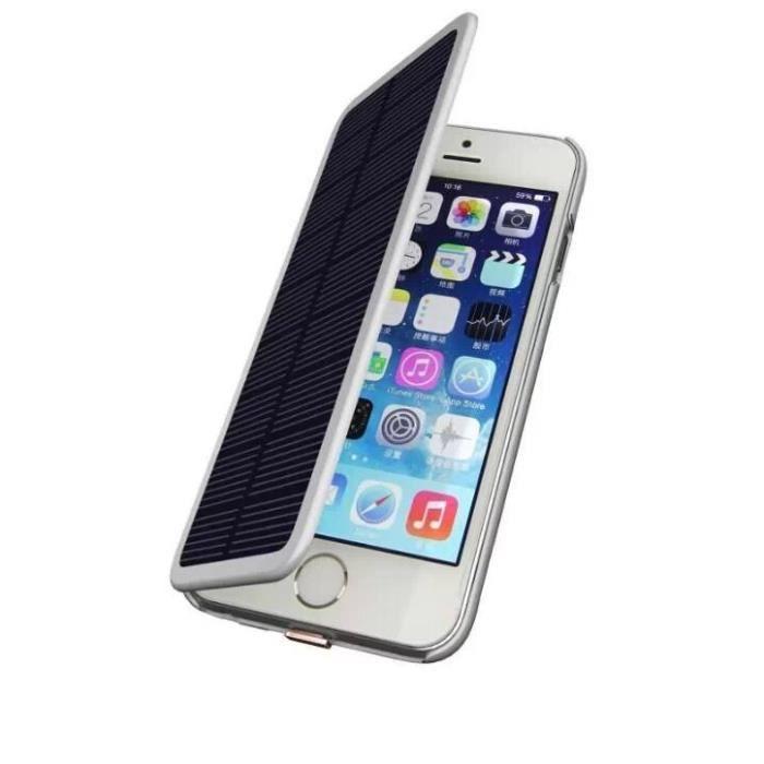 coque batterie solaire de secours iphone 6 achat coque. Black Bedroom Furniture Sets. Home Design Ideas