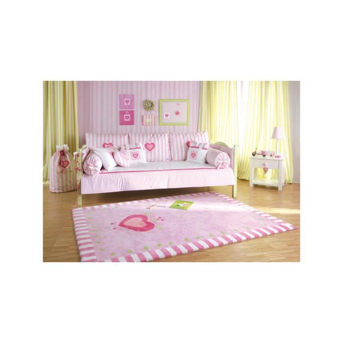 annette frank tapis enfants coeur rose 140x200 cm achat vente tapis cdiscount. Black Bedroom Furniture Sets. Home Design Ideas