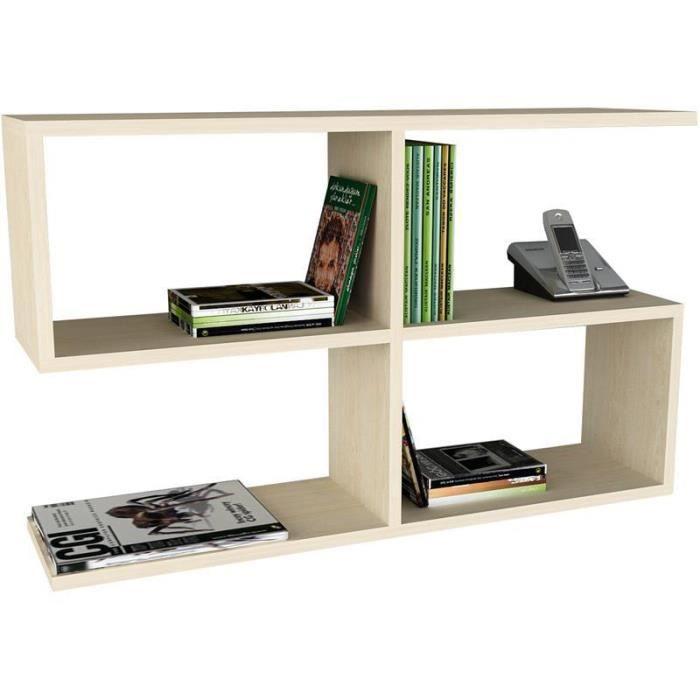 biblioth que et autres rangements etag re murale achat. Black Bedroom Furniture Sets. Home Design Ideas