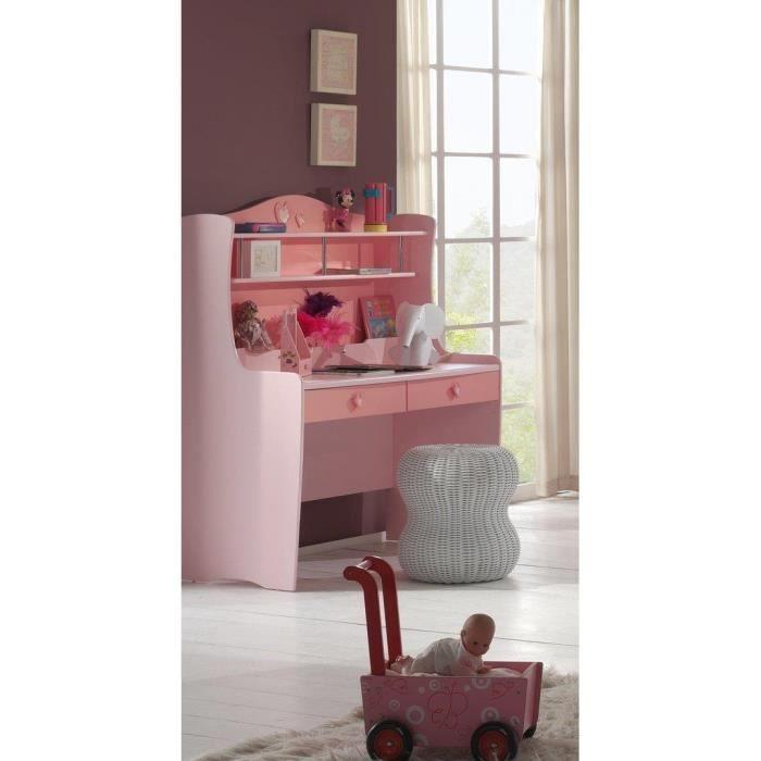 Meuble de bureau mdf rose 2tiroirs 2 tag res achat for Meuble bureau 2 tiroirs