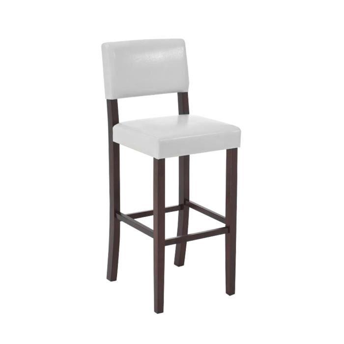clp tabouret de bar avec dossier sabra en bois rev tement en pu repose pieds hauteur de l. Black Bedroom Furniture Sets. Home Design Ideas