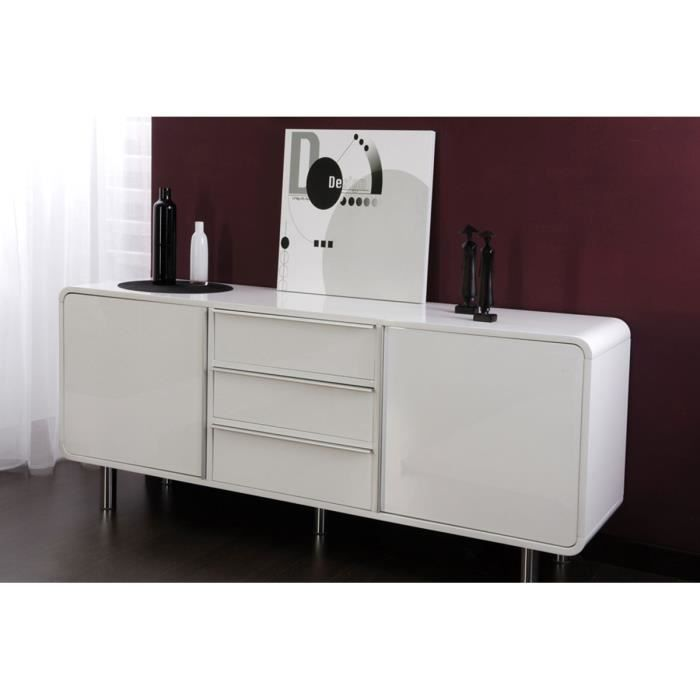 Buffet blanc 2 portes 3 tiroirs montreal achat vente for Achat television montreal