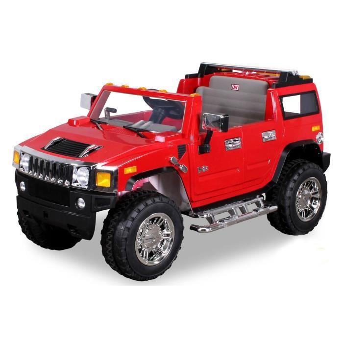 voiture lectrique pour enfants hummer h2 rouge achat vente voiture enfant cdiscount. Black Bedroom Furniture Sets. Home Design Ideas