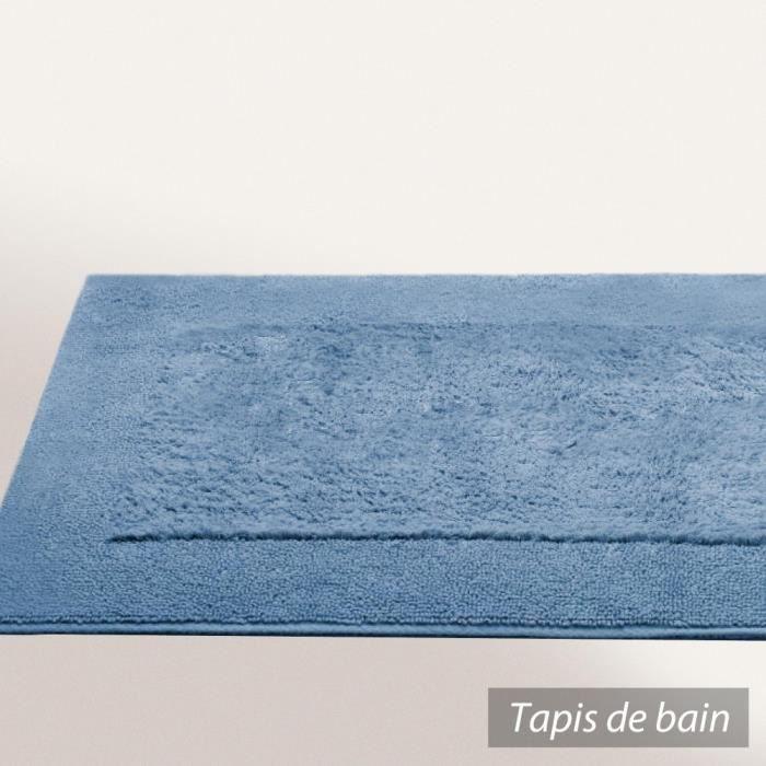 tapis de bain 70x120 cm dream bleu gris 2000 g m2 achat. Black Bedroom Furniture Sets. Home Design Ideas