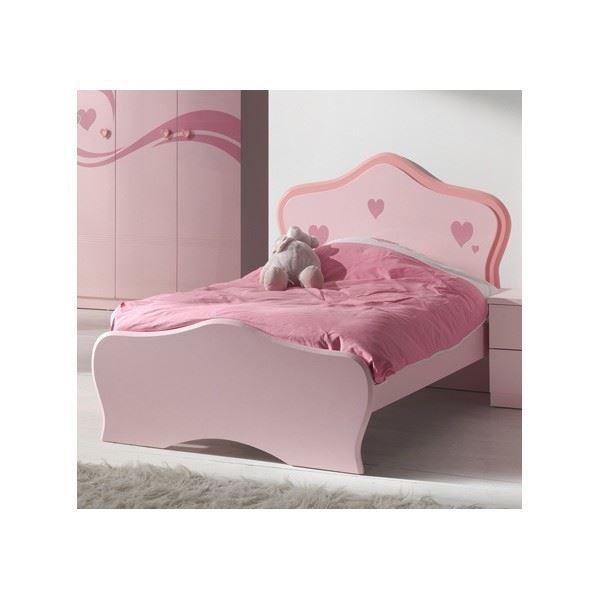 Lit enfant lolly coloris rose l 200 x p 98 x achat vente lit complet - Lit enfant petite fille ...