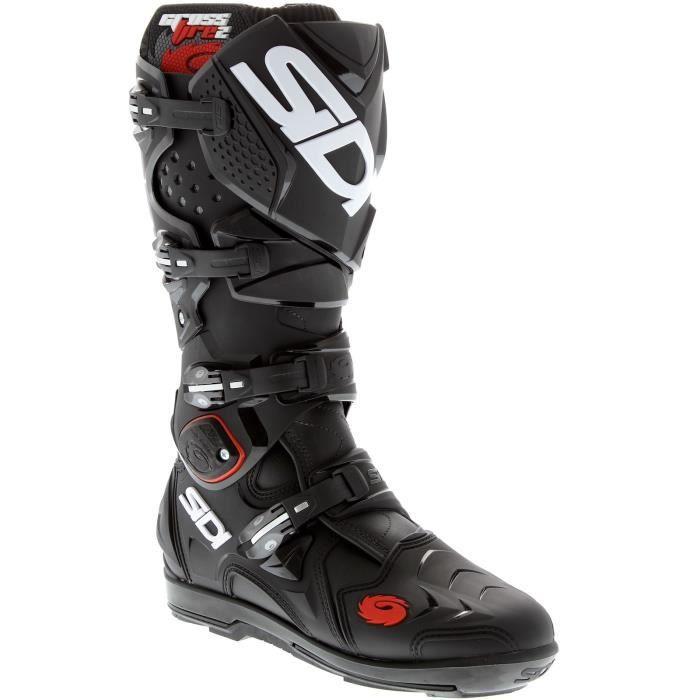 bottes motocross sidi crossfire 2 srs noir noir achat vente chaussure botte bottes. Black Bedroom Furniture Sets. Home Design Ideas
