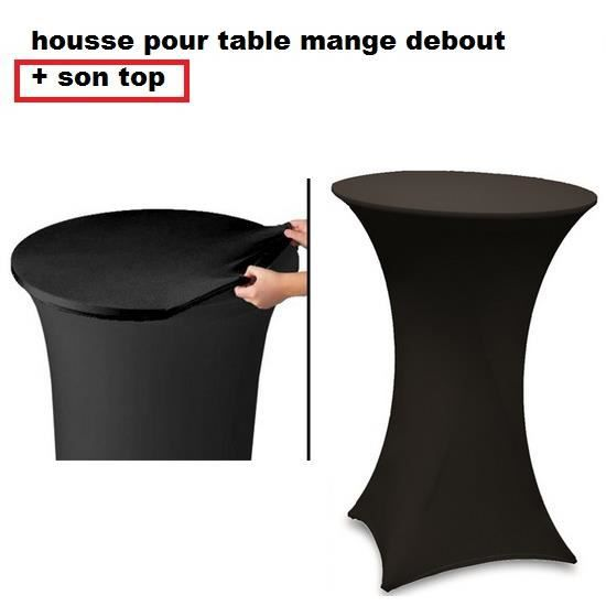 housse table mange debout noir spandex achat vente housse de chaise meuble cdiscount. Black Bedroom Furniture Sets. Home Design Ideas