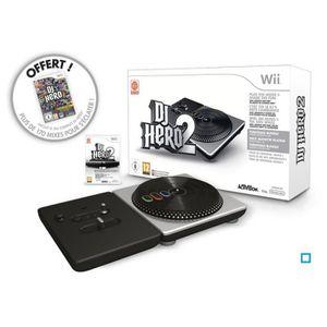 JEUX WII DJ HERO 2 + PLATINE / jeu console Wii