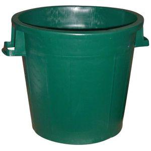 Poubelle d 39 ext rieur sans couvercle 50 l vert achat vente poubell - Poubelle recyclage maison ...