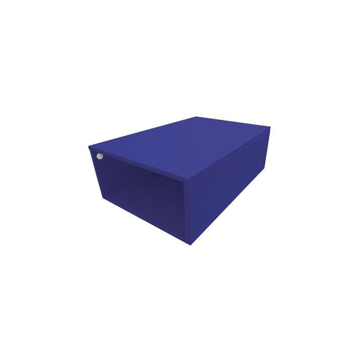 Cube de rangement bois largeur 75 cm achat vente petit for Bureau 75 cm largeur
