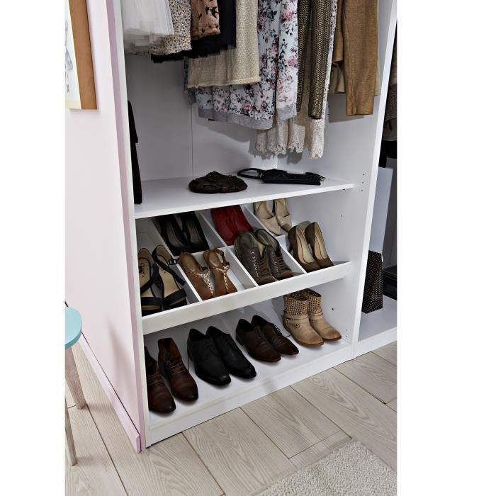 m o compartiment de 8 cases pour ranger ses chaussures. Black Bedroom Furniture Sets. Home Design Ideas