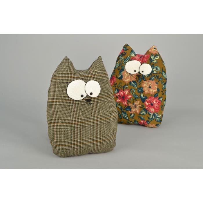 Doudou coussin original en forme de chat achat vente - Objet decoratif original ...